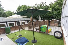 outside area at Star Boarding Kennels